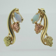 10k Black Hills Gold and Opal Coleman Company Earrings