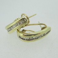 10k Yellow Gold Approx 1/3ct TW Diamond Lever Back Earrings
