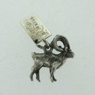 Bell Sterling Silver Big Horn Ram Pendant Charm