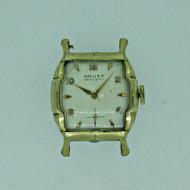Vintage Gruen Precision 422-998 Swiss 17J 10k RGP Watch Case Movement and Dial Parts Steampunk (B6358)