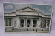 The New York Public Library New York w/ people 1913 Antique Postcard