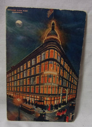 1906 Donaldson's Glass Block Minneapolis Minn Night Scene Antique  Postcard