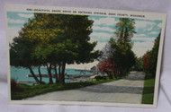 Shore Drive Ephram Door County Wi Antique Postcard