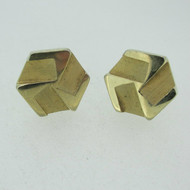 Vintage Gold Tone Octagon Shaped with Etching Cufflinks