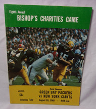 Green Bay Packers vs Giants Bishop's Charities Game Aug 10 1968 Program