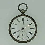 Antique Ankergang Swiss 800 Silver Pocket Watch Parts Steampunk (B6840)