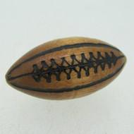 Wooden Football Key Chain Charm Pendant