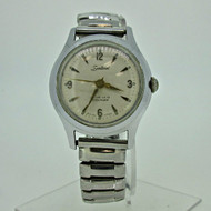 Vintage E. Ingraham Co. Swiss Sentinel Jeweled Silver Tone and Stainless Steel Watch Parts Steampunk (B6849)