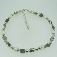 Brighton Silver Tone Freshwater Pearl and Labradorite Bead Necklace