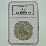 1921 P NGC MS63 Morgan Silver Dollar (600391)