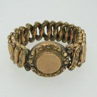 Vintage Gold Tone Round Nugget Sweetheart Expandable Bracelet