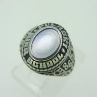 Silver Tone Pulaski High School Class 1986 Ring Size 4.25