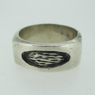 Sterling Silver Triangular Comfort Abstract Design Ring Size 9 1/2