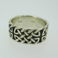 Sterling Silver Peter Stone Irish Celtic Infinity Band Ring Size 7
