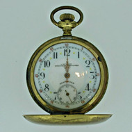 Antique Union National Watch Co. Swiss 18s Gold Filled Pocket Watch Parts Steampunk (B7944)