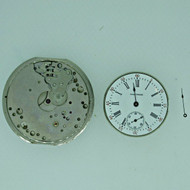 Lot of Two Antique Movements Waltham and Swiss Parts Steampunk (B7952)