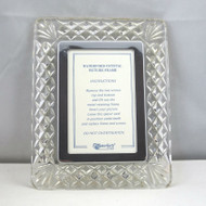 Vintage Waterford Crystal Rectangular Photo Picture Frame with Screw Back Panel