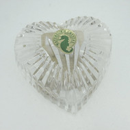 Waterford Cut Pattern Crystal Heart Prism Paperweight Hand Cooler