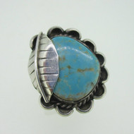Sterling Silver Turquoise Handmade Southwest Ring Size 9.25