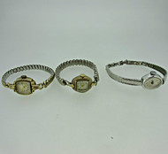 Lot of Three Vintage Ladies Bulova and Timex Watches Parts Steampunk (B7984)
