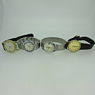 Lot of Four Vintage Bulova, Towne, and Signal Watches Parts Steampunk (B7985)