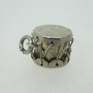 Sterling Silver Drum Mexico Charm Vintage