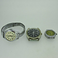 Lot of Three Vintage Lucerne, Abra, and Bercona Watches Parts Steampunk (B7986)