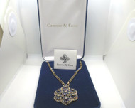 Camrose Kross JBK Jackie Kennedy Grand Tour Replica Blue Flowers Necklace in Box