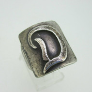 Sterling Silver Signet Initial Monogram D Ring Size 9