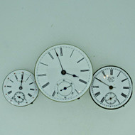 Lot of Three Antique Swiss Pocket Watch Movements Parts Steampunk (B8026)