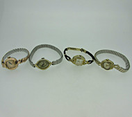 Lot of Four Vintage Ladies Bulova, Gruen, Gisiger, and Croton Watches Parts (B8029)
