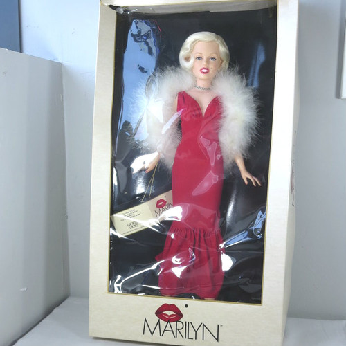 Early 1980s Vinyl World Doll Celebrity Series Marilyn Monroe Original Box w Tag