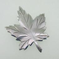 Sterling Silver Maple Leaf Ladye Fayre Pin Brooch