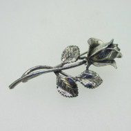 Sterling Silver Sarah Coventry Rose Flower Pin Brooch