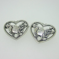 Sterling Silver Lot of 2 Coro Bird Pins Brooches Pair of Love Birds