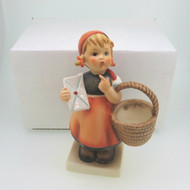 Vintage Goebel Hummel Meditation Figurine Girl with Basket & Letter in Box