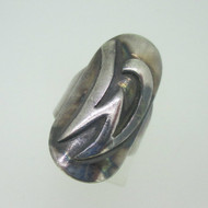 Sterling Silver Signet Initial W Monogram Ring Size 6.5