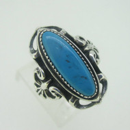 Sterling Silver Wheeler Turquoise Ring Size 6