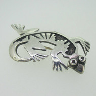 Sterling Silver Lizard Southwest Pin Brooch