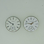 Lot of Two Antique Elgin and Swiss Private Label Movements and Dials Parts Steampunk (B8408)