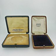 Lot of Two Antique Private Label Pocket Watch Boxes (B8409)