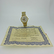 Vintage Rhapsody Royale 21J USS Independence 14k Solid Gold Watch (B8416)