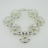 """Sterling Silver David Sigal Flower Bracelet 7.5"""""""