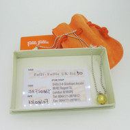 Sterling Silver Folli Follie Gold Glass Bead Necklace with Original Box