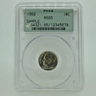 1962 PCGS MS65 Sample 10 Cent Dime Slabbed Coin (600927)