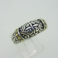 Sterling Silver & 18K Accent EFFY Filigree Dome Ring Size 7