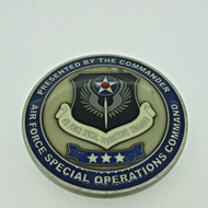 Rare Air Force Special Operations Command Three Star Challenge Coin (600929)