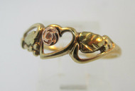 Coleman 10k Black Hills Gold Ring with Heart Size 7 ¼