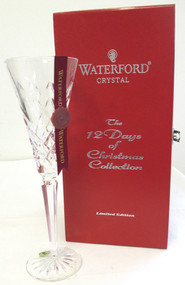 """Waterford Crystal 4th Edition 12 Days of Christmas Flute """"Calling Birds""""*"""