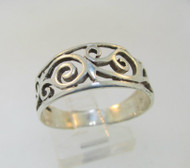 Sterling Silver Filigree Ring Size 8.25